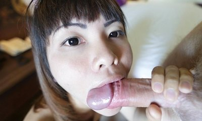 bee, shaved cock, skinny, small tits, sucking cock, thai, white cock, yo,